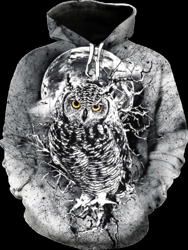 b7d8036d6ce9 Owl 3D Hoodie