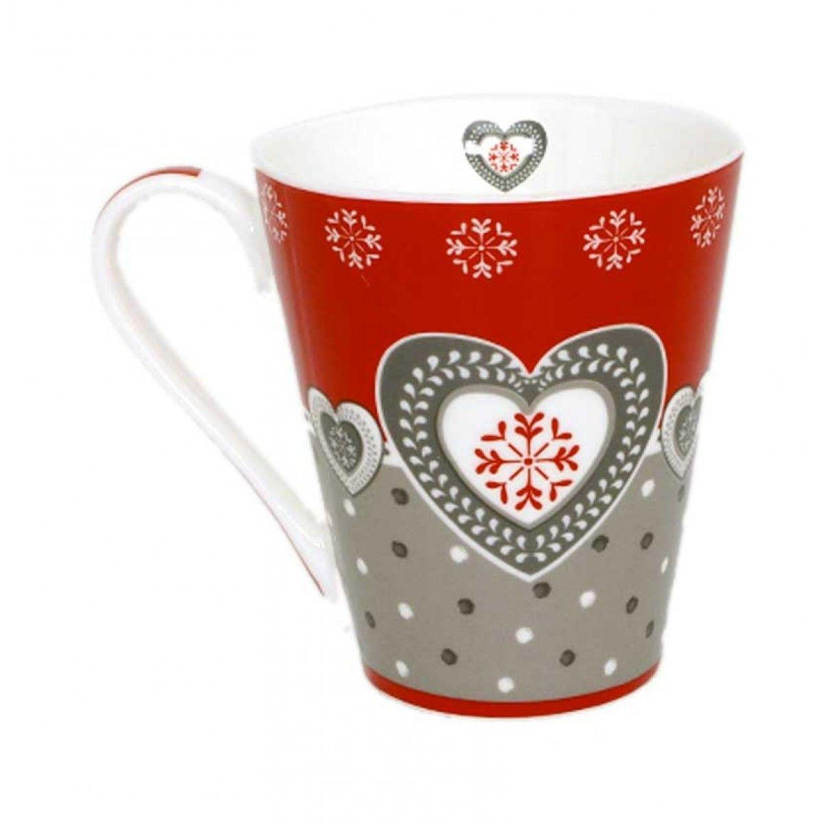 mug cœur style montagne | Art de la table | GA | Pinterest | Coeur