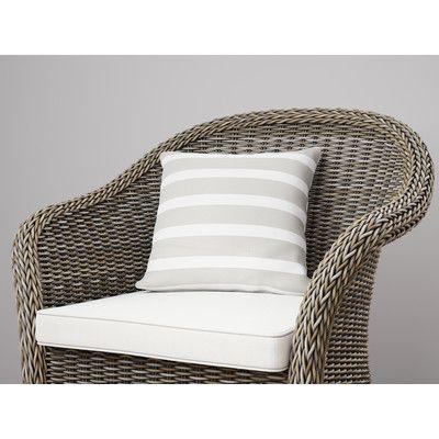 "Wildon Home  Saybrook Throw Pillow Size: 16"" H x 16"" W, Color: Smoke"