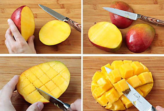 How To Select Peel Dice A Mango Peeling A Mango Cooking With Ghee Recipes
