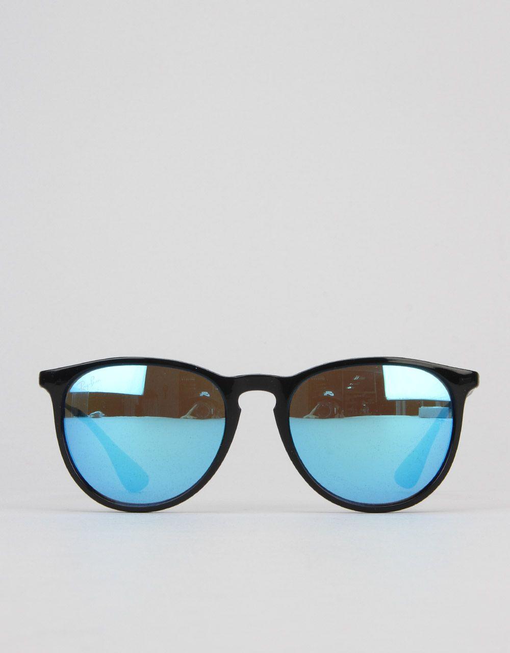 e75b45bdbbca7 Ray-Ban Erika Sunglasses - Black RB4171 601 55 54 - RouteOne.co.uk ...