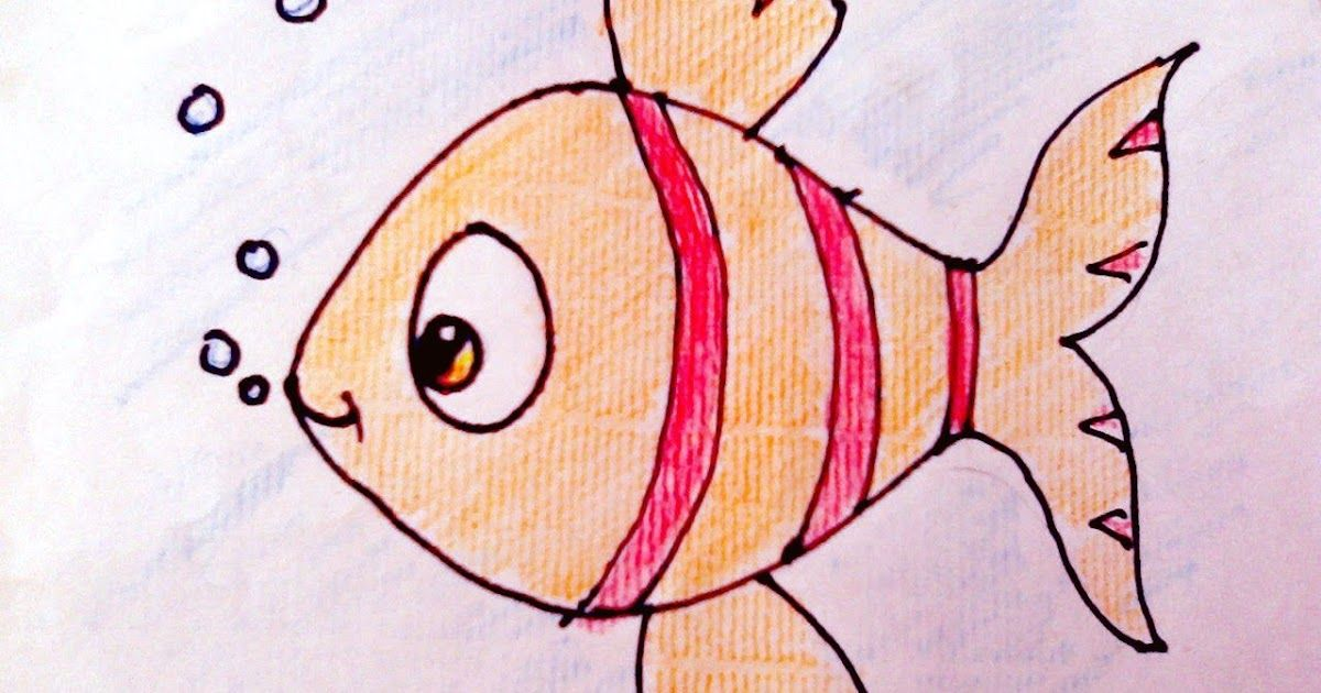 Drawing How To Draw Fish And Colour For Kids Art Youtube In 2020 How To Draw Fish And Coloring Fish Under Wa Drawn Fish Colorful Drawings Fish Drawing Images