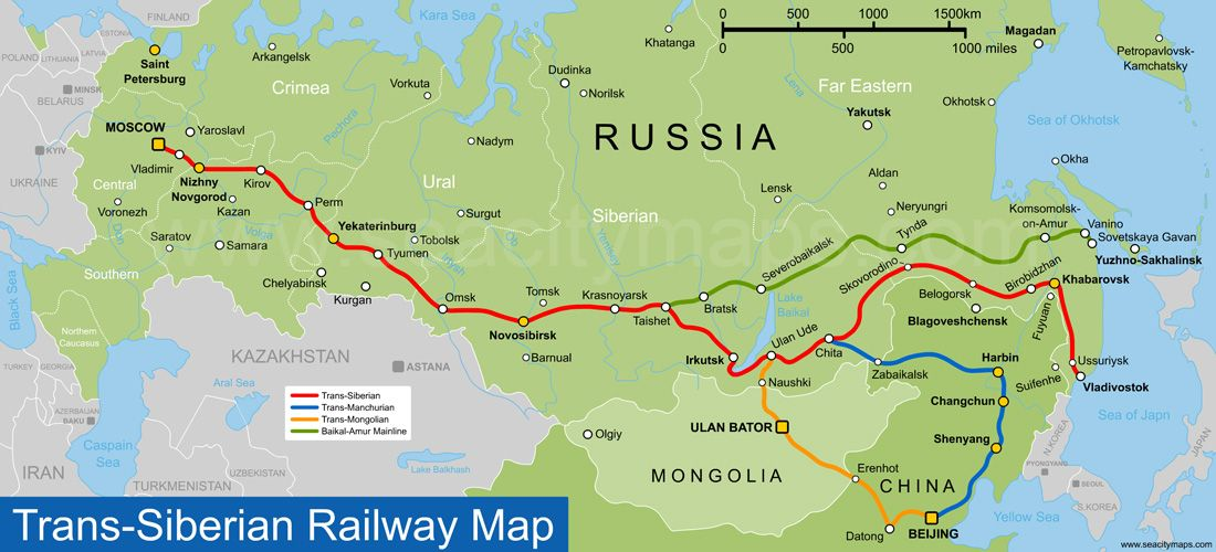Trans Siberian Railroad Map Image result for trans siberian railway | TRSI | Trans siberian  Trans Siberian Railroad Map