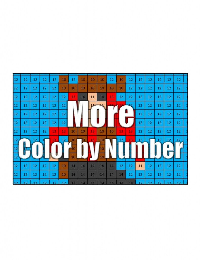 Free Math Coloring Pages - Pixel Art and Math | Free math, Math and ...