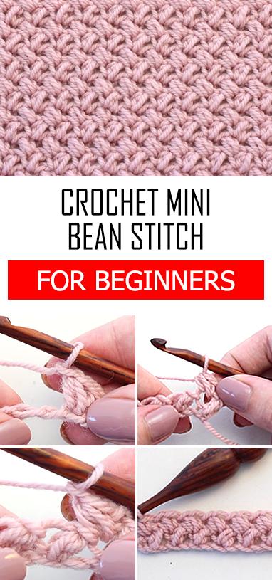Crochet The Mini Bean Stitch Tutorial For Beginners