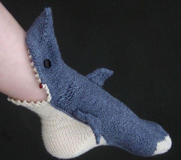 Hai Socken Stricken Häkeln Socken Strümpfe Und Hai Socken