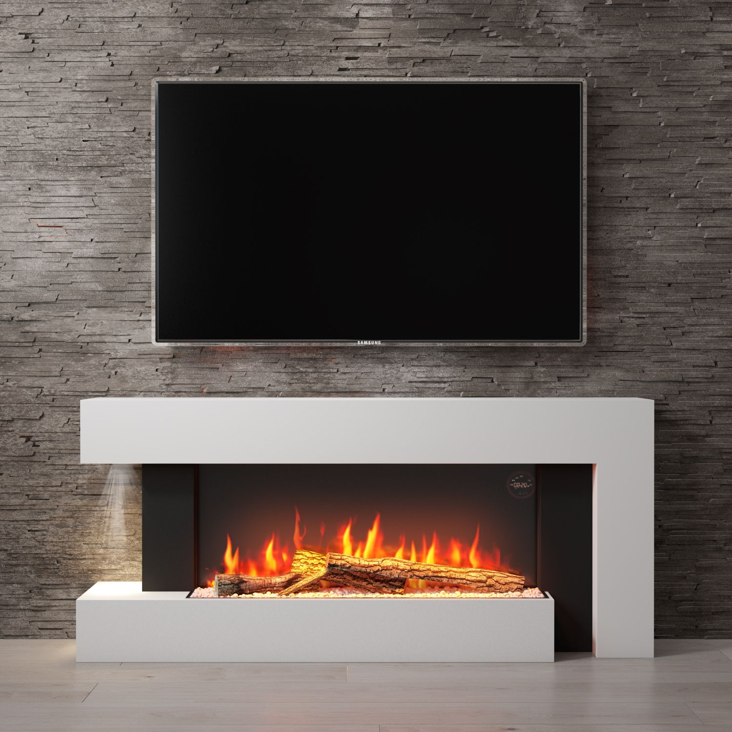 Electric Fireplace Suite White Wall Mounted Electric Fireplace