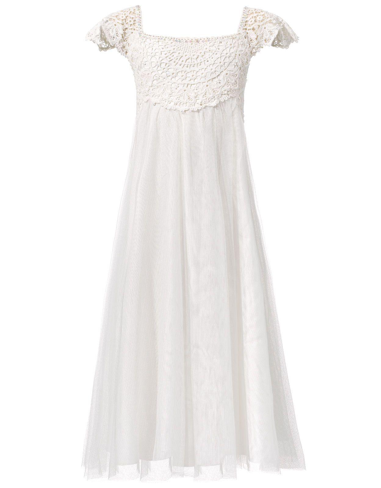 flower girl or junior bridesmaid / Estella Crochet Bodice Dress ...