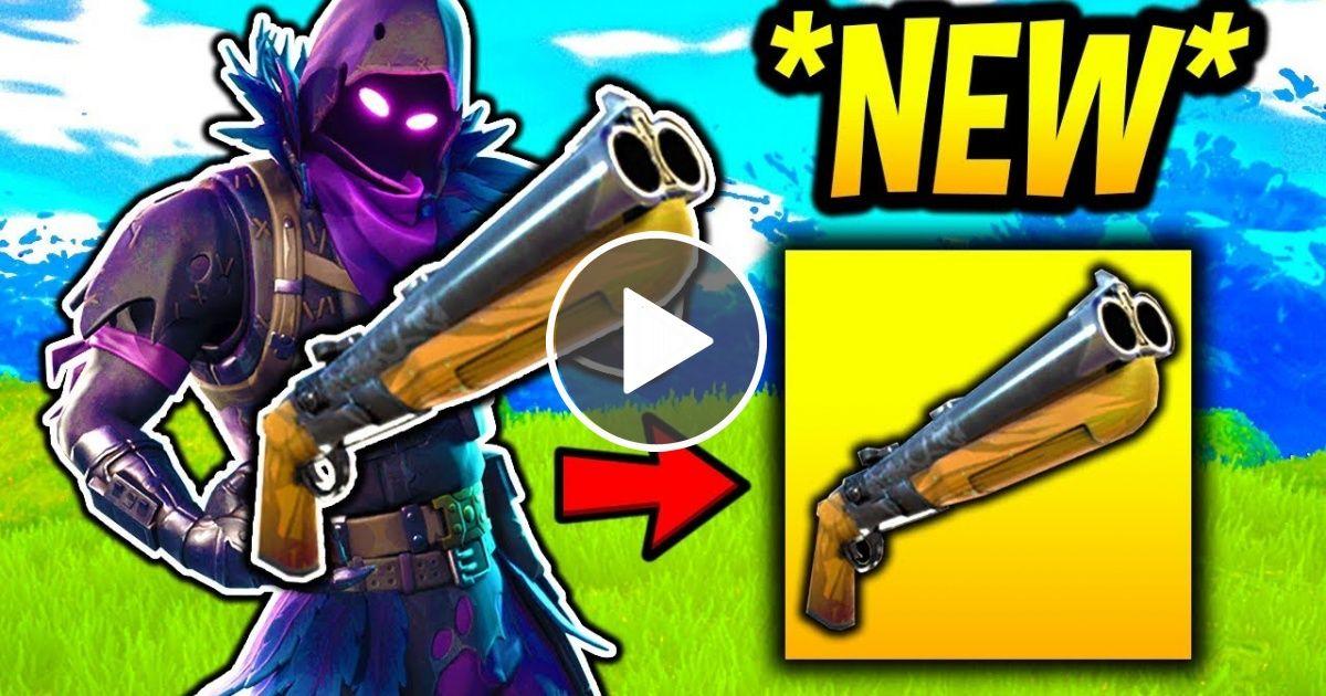 NEW *DOUBLE BARRELED* SAWED-OFF SHOTGUN COMING!! Fortnite