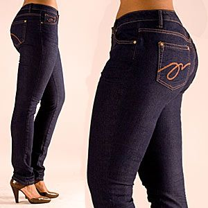 Skinny jeans for curvy bottoms