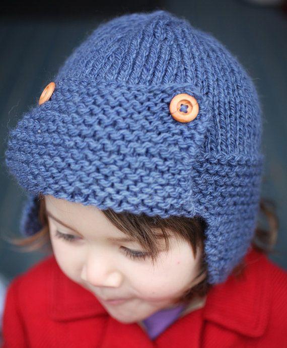 Knitting Pattern Aviator Hat CORY Child to Adult sizes | Babys ...
