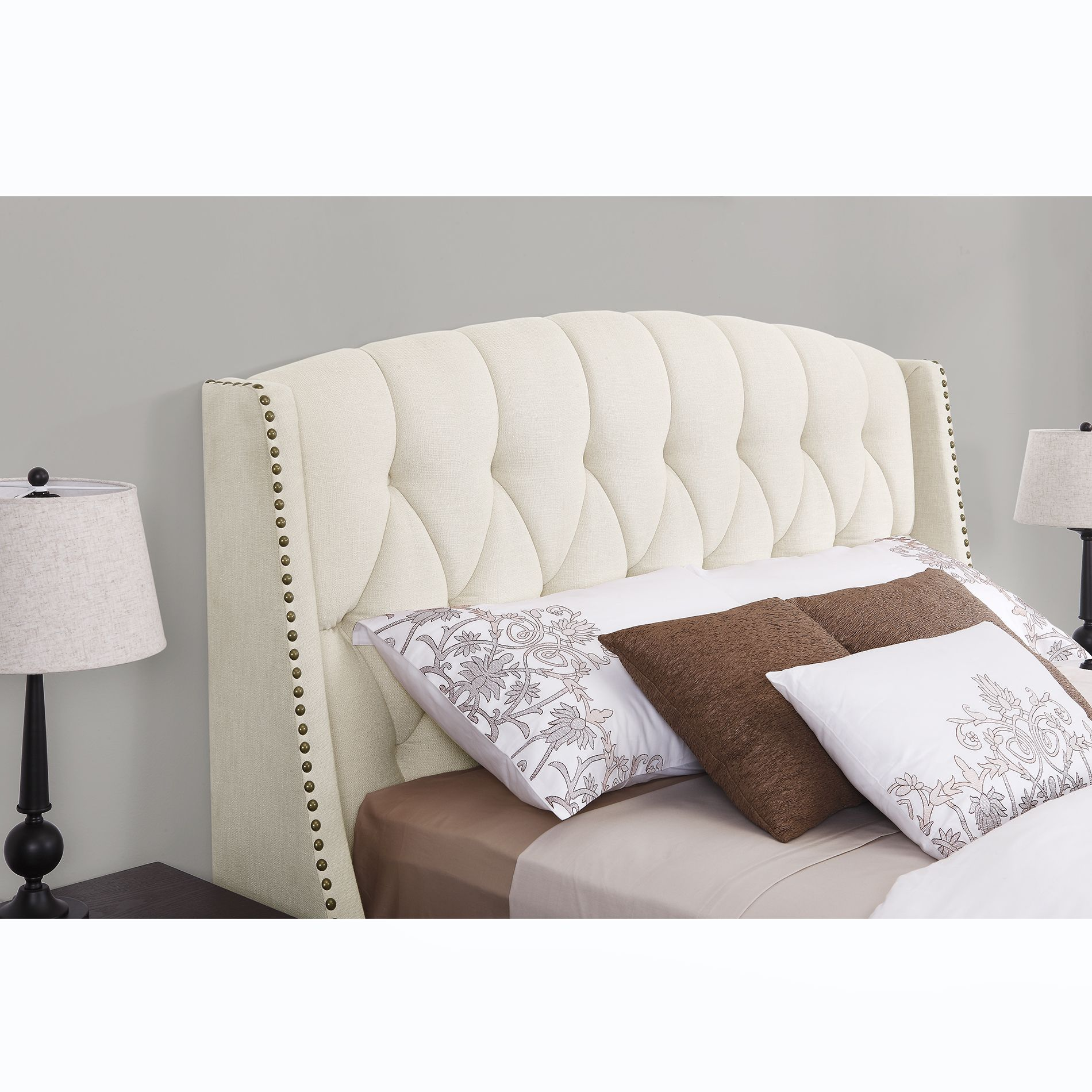 Dorel Signature Sophia Ivory Headboard - Available in Full/Queen ...