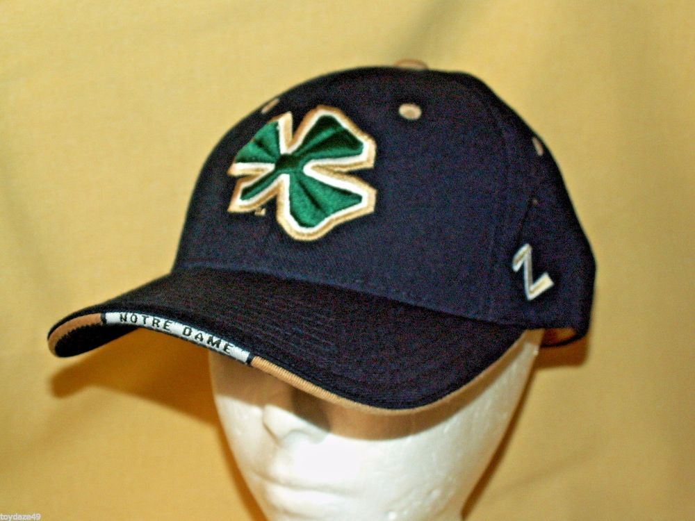 brand new 2378a 1e9d9 ... coupon for notre dame hat fighting irish baseball cap zephyr wool  acrylic blue green clover zephyr