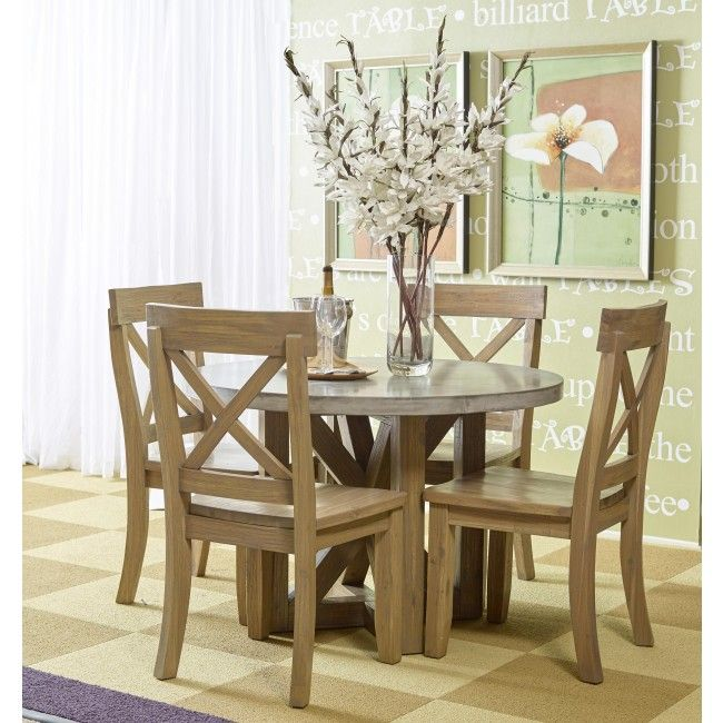Traditional Round Dining Table With Cement Top For The Home - Cement top round dining table