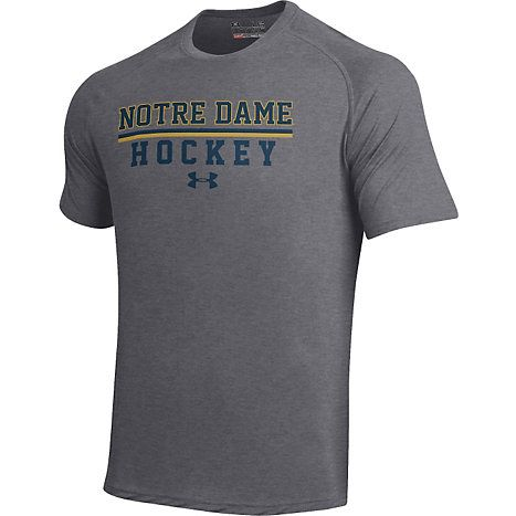 Notre Dame Under Armour Hockey Adult Sport Tech Tees College Basketball Shirts Tech Tee Lacrosse Shirts