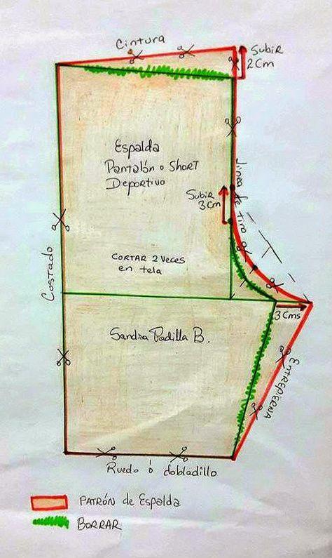 Aprende con SANDRA PADILLA : Cómo hacer un Pantalón o Short ...