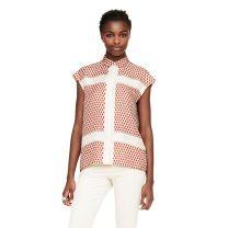 Brooke Paisley Silk Shirt- CLUB MONACO