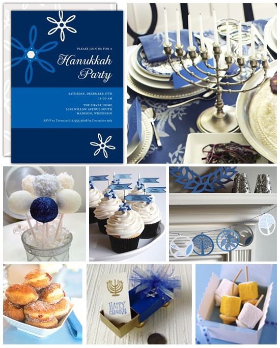 Hanukkah Party Inspiration Board