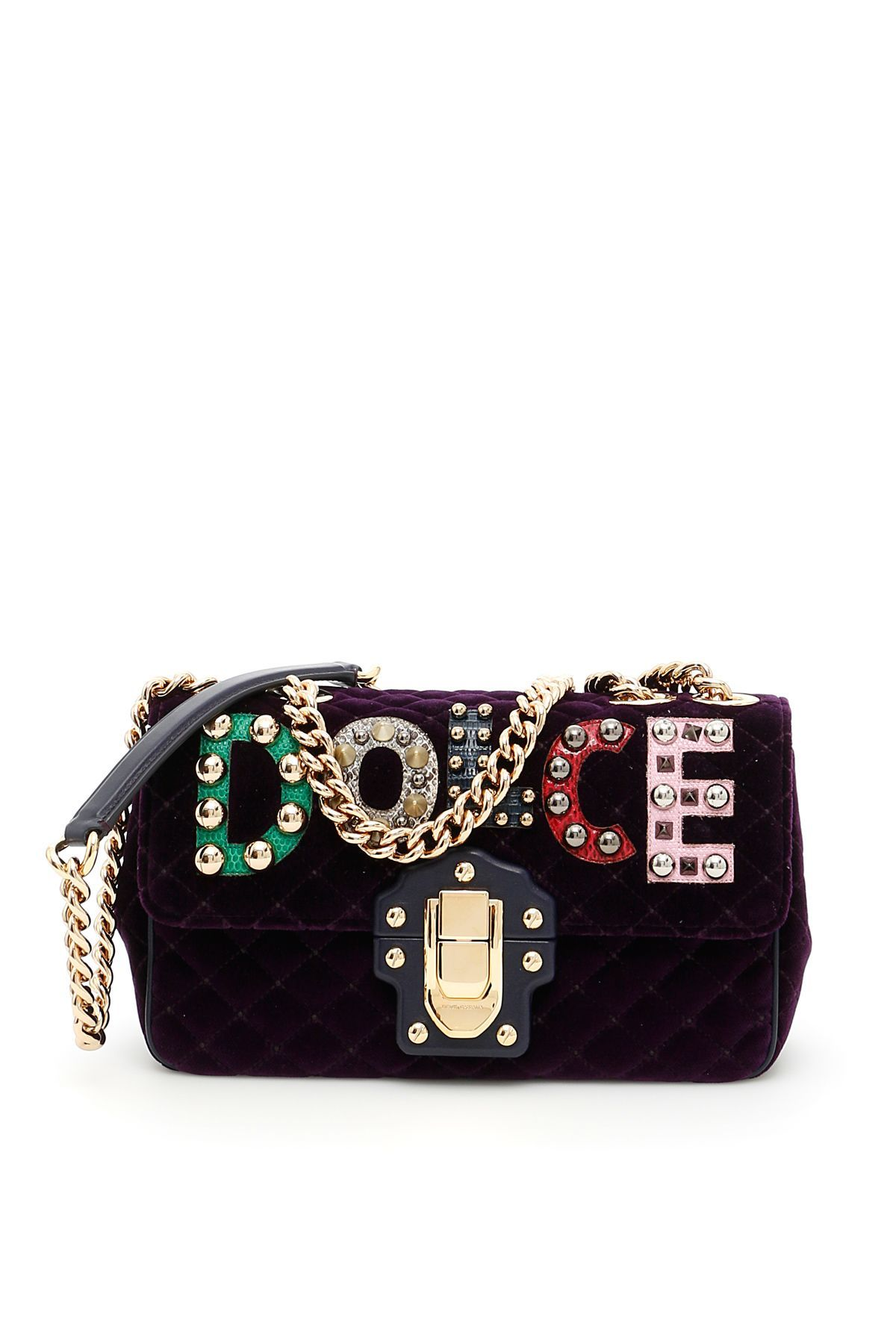 1c6c775aaa DOLCE   GABBANA LUCIA SHOULDER BAG.  dolcegabbana  bags  shoulder bags   leather  lining  velvet  metallic