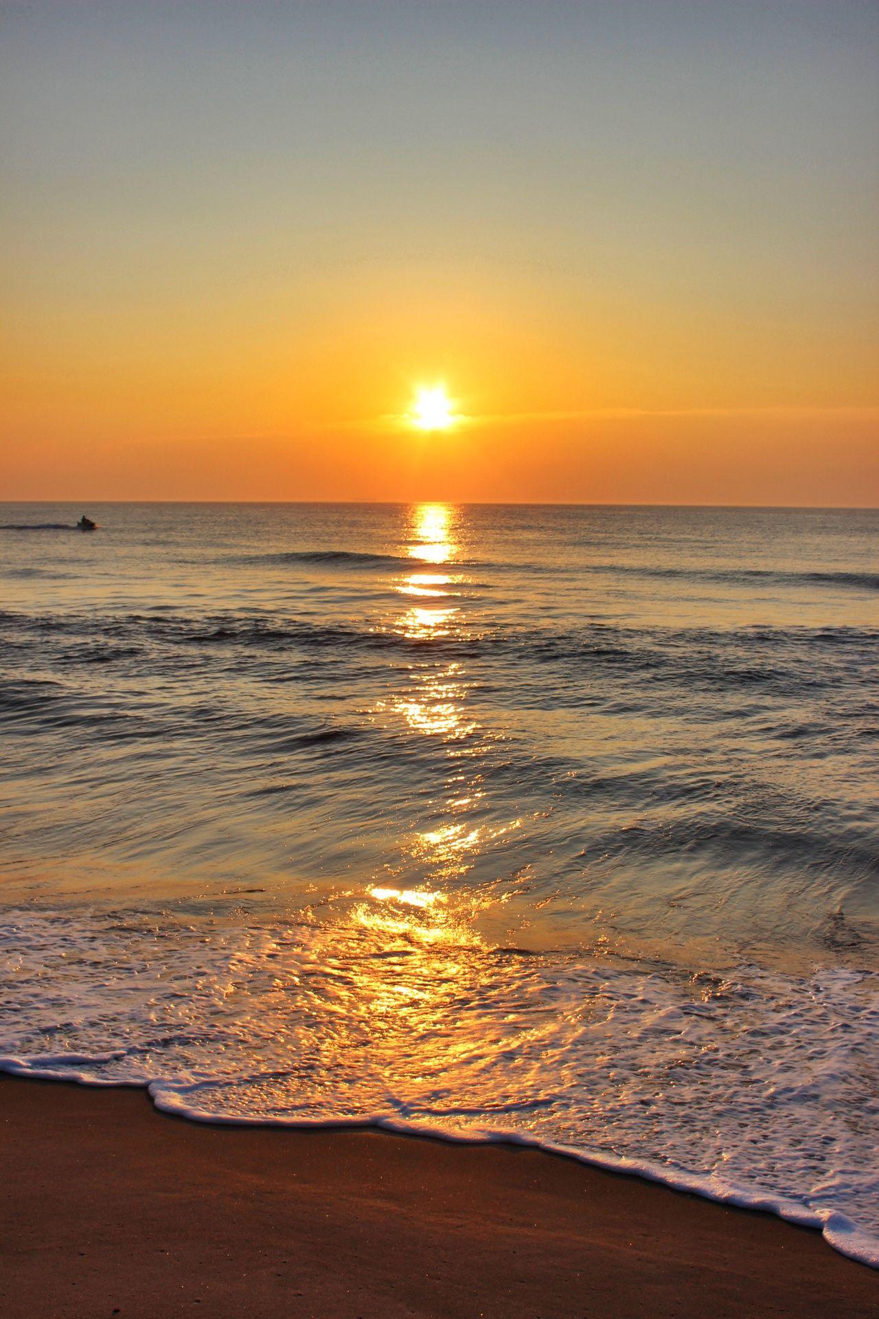 Virginia Beach Sunrise Sunset Surf Sunrise Wallpaper Sunrise Beach