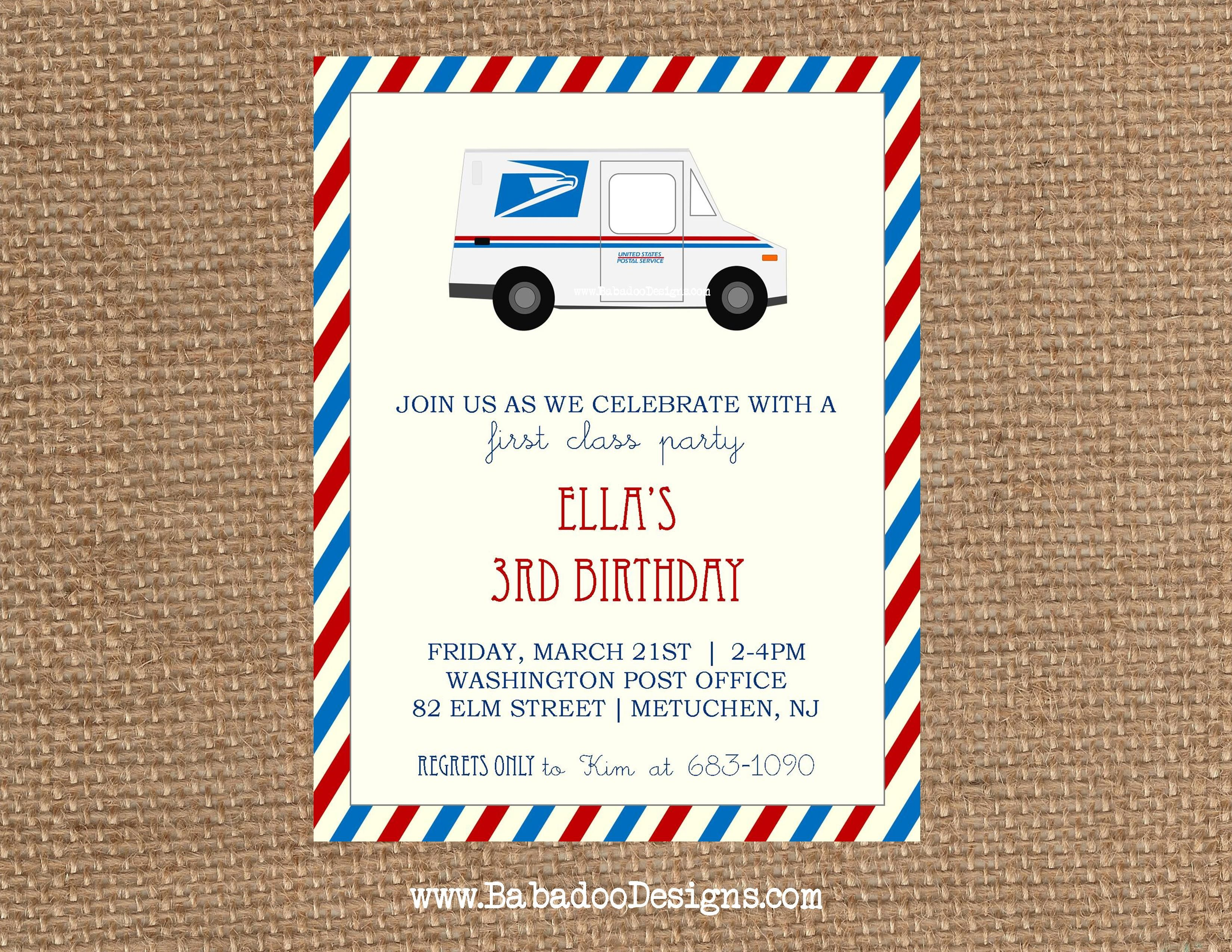 Mail truck birthday party invitation httpsetsylisting mail truck birthday party invitation httpsetsylisting stopboris Choice Image
