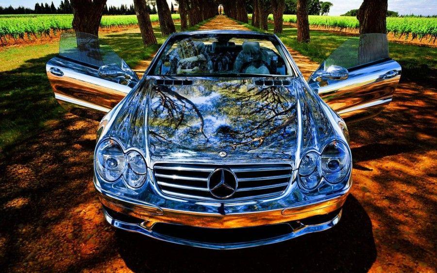 Mercedes Benz With A Mirror Effect Sportwagen Sonderanfertigungen Auto Hintergrundbilder