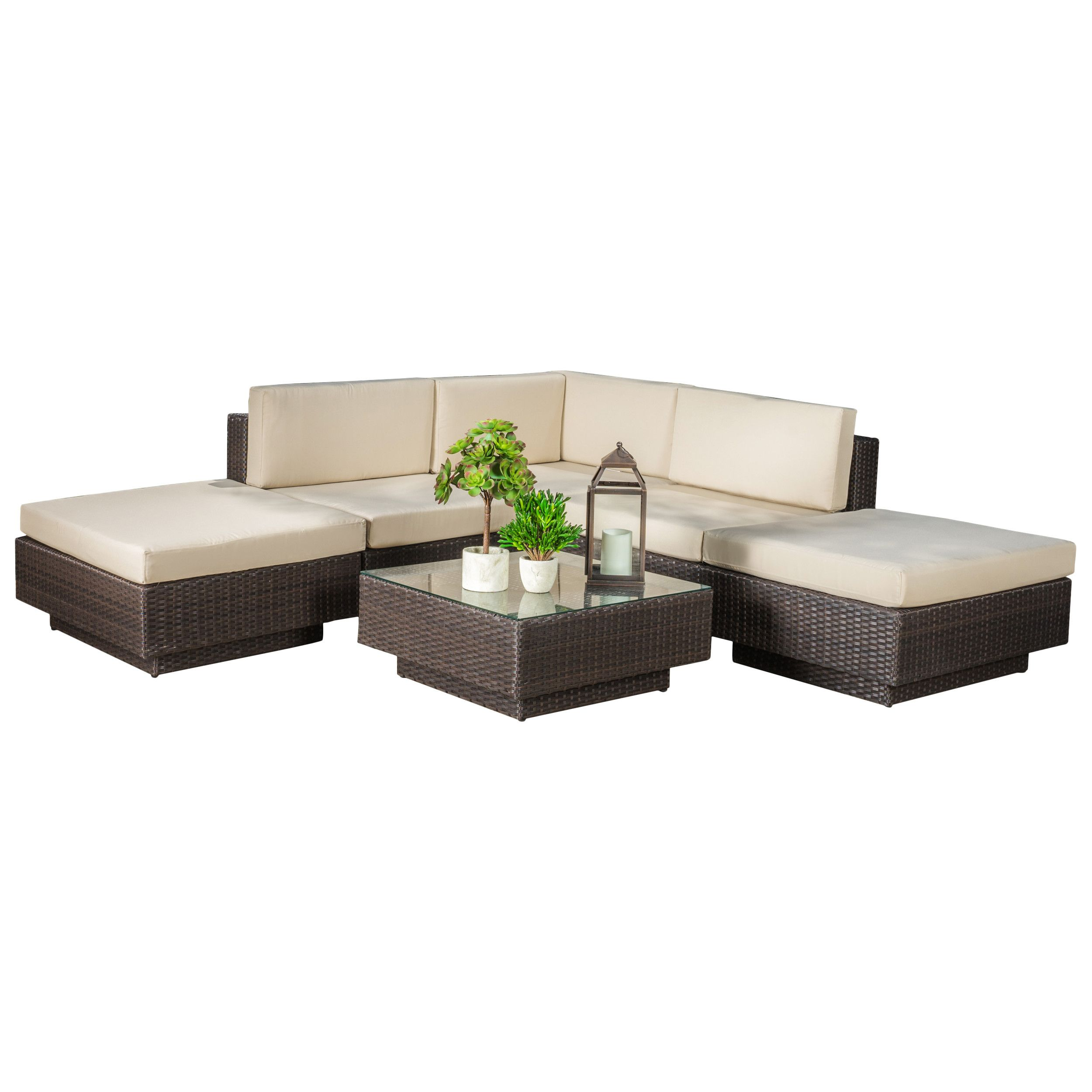 Marcano 6 Piece Sectional Set with Cushions