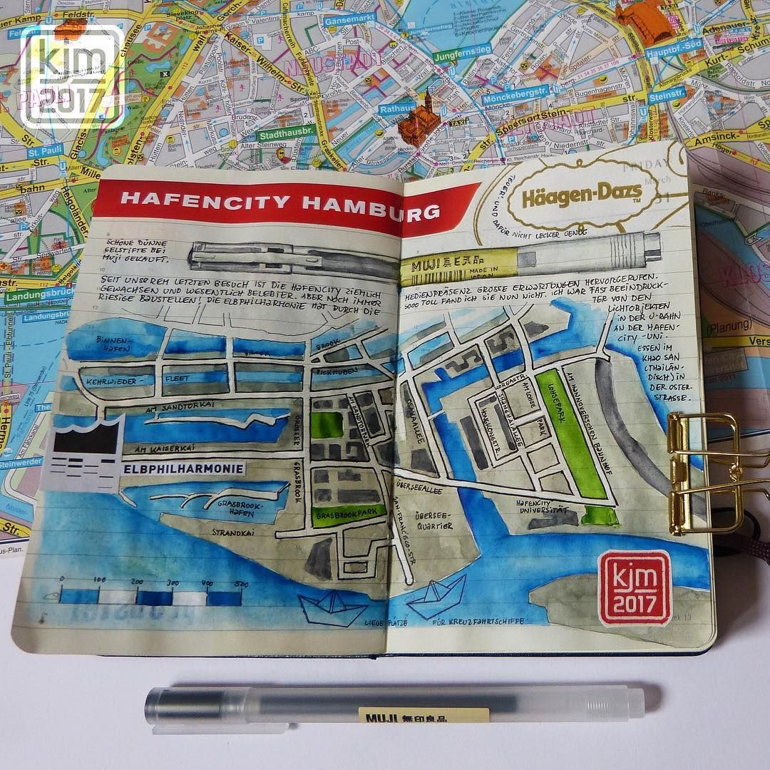 Hamburg Hafencity Illustrated Map C Kathrin Jebsen Marwedel Ig