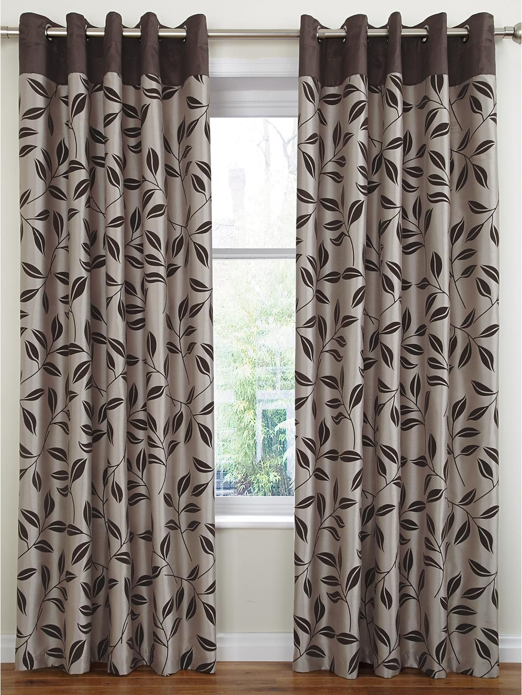 Kitchen Curtains Littlewoods Bay Leaf Flocked Lined Eyelet Curtains Http Littlewoods