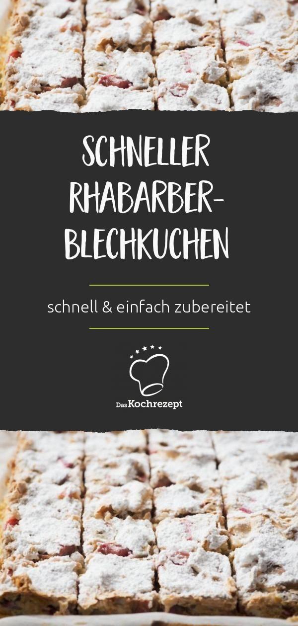 Schneller Rhabarber-Blechkuchen