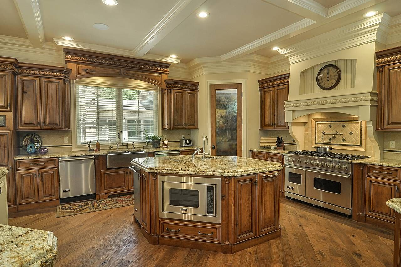 A Mansion With A Man Cave Asks 4 5 Million Spacious Kitchens Kitchen Mansions
