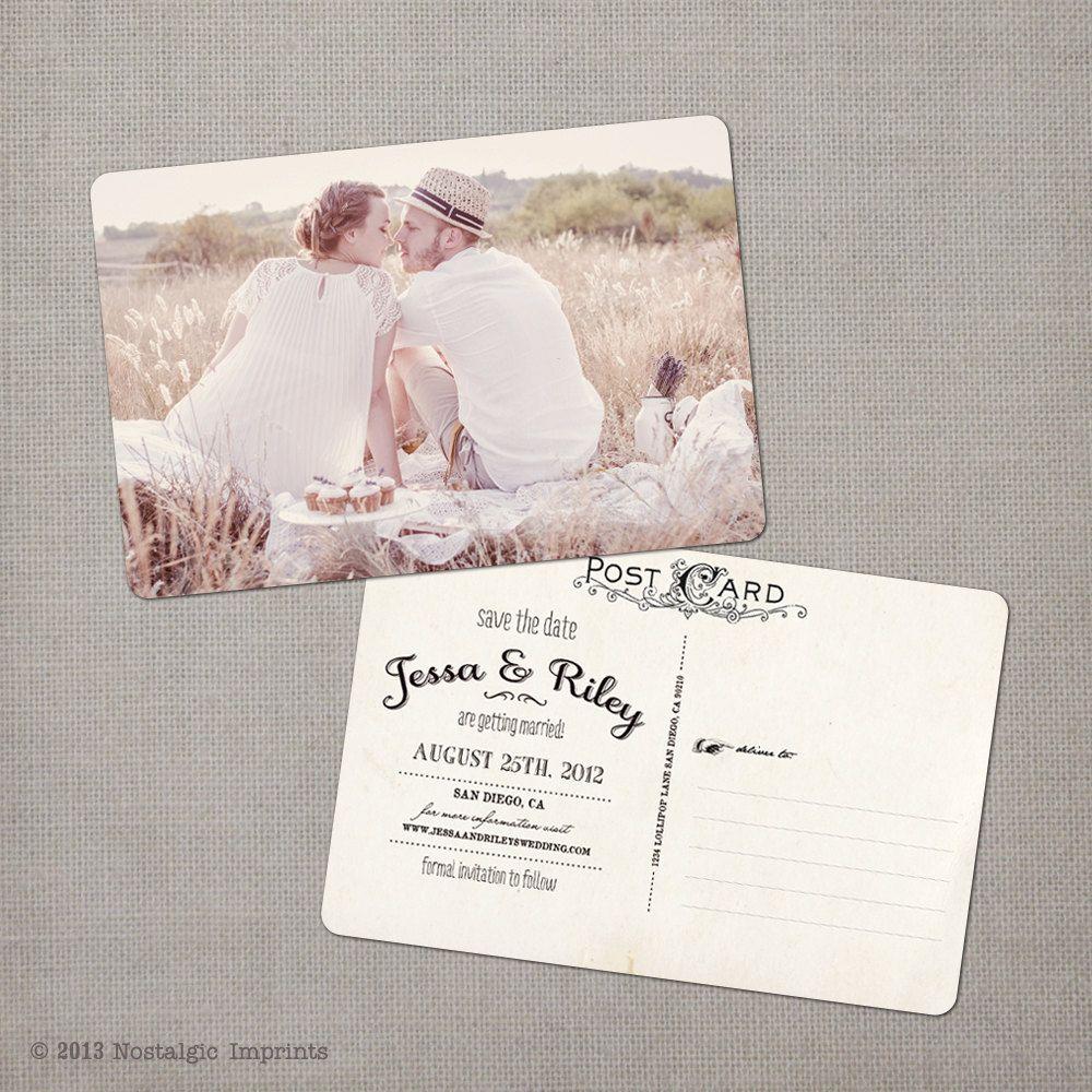 Vintage Save The Date Postcard The Jessa 39 00 Via Etsy