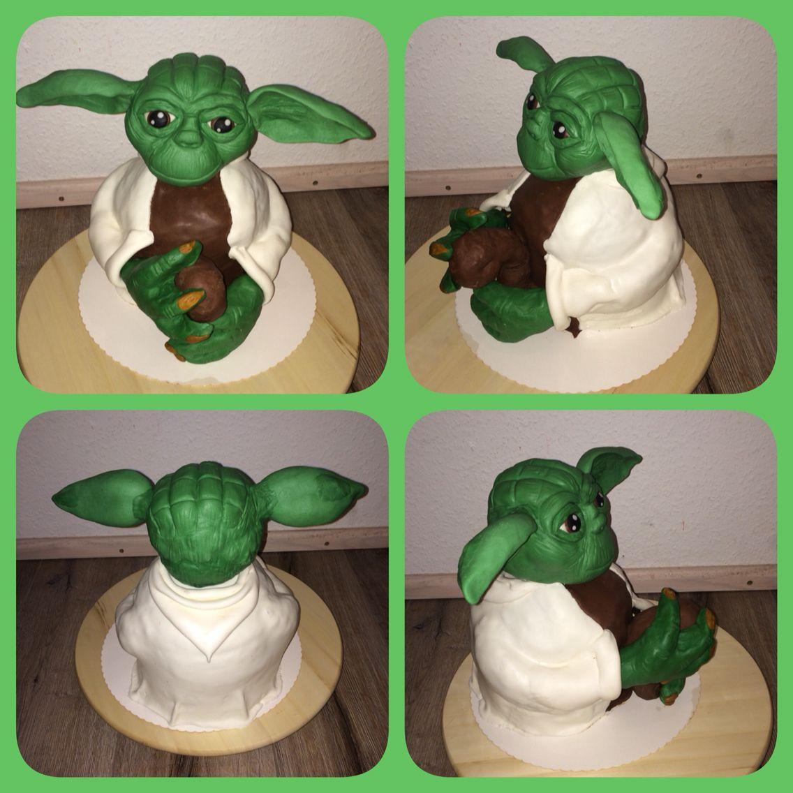 Meister Yoda Torte Mit Schokoboden Und Dunkler Und Weisser