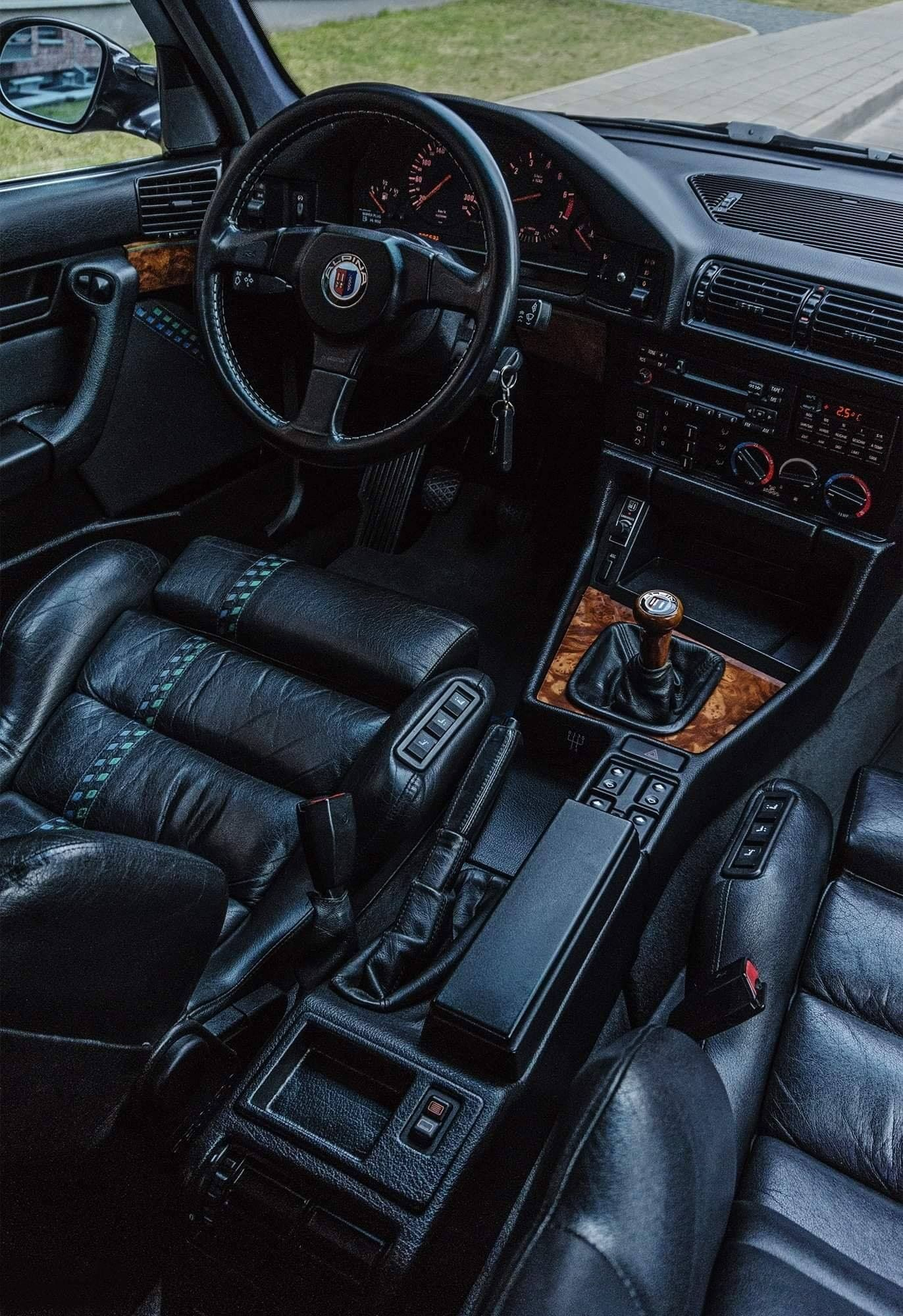 The luxurious interior of an e34 Alpina. (Not mine unable