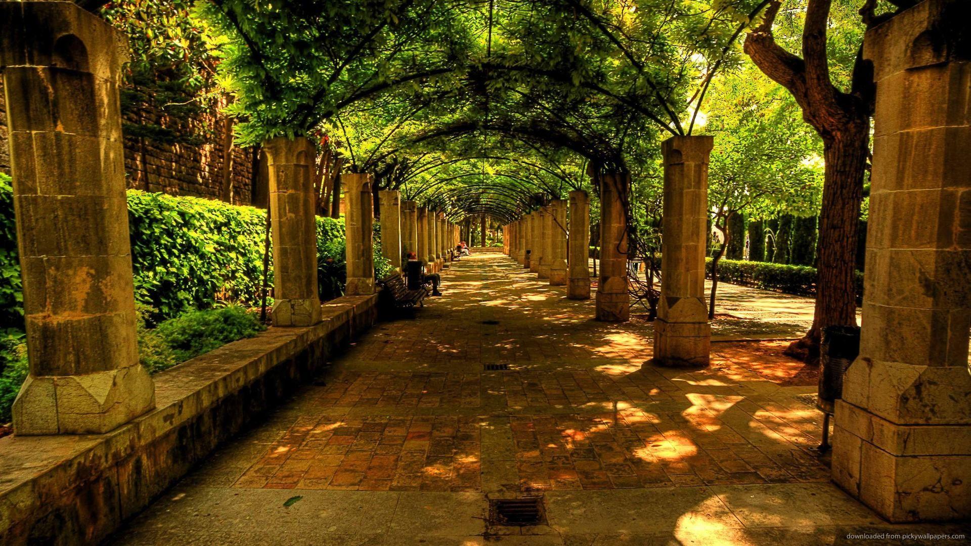 Hd Beautiful Alley In Spain Wallpaper Dream Vacation Spots Beautiful Places Green Landscape