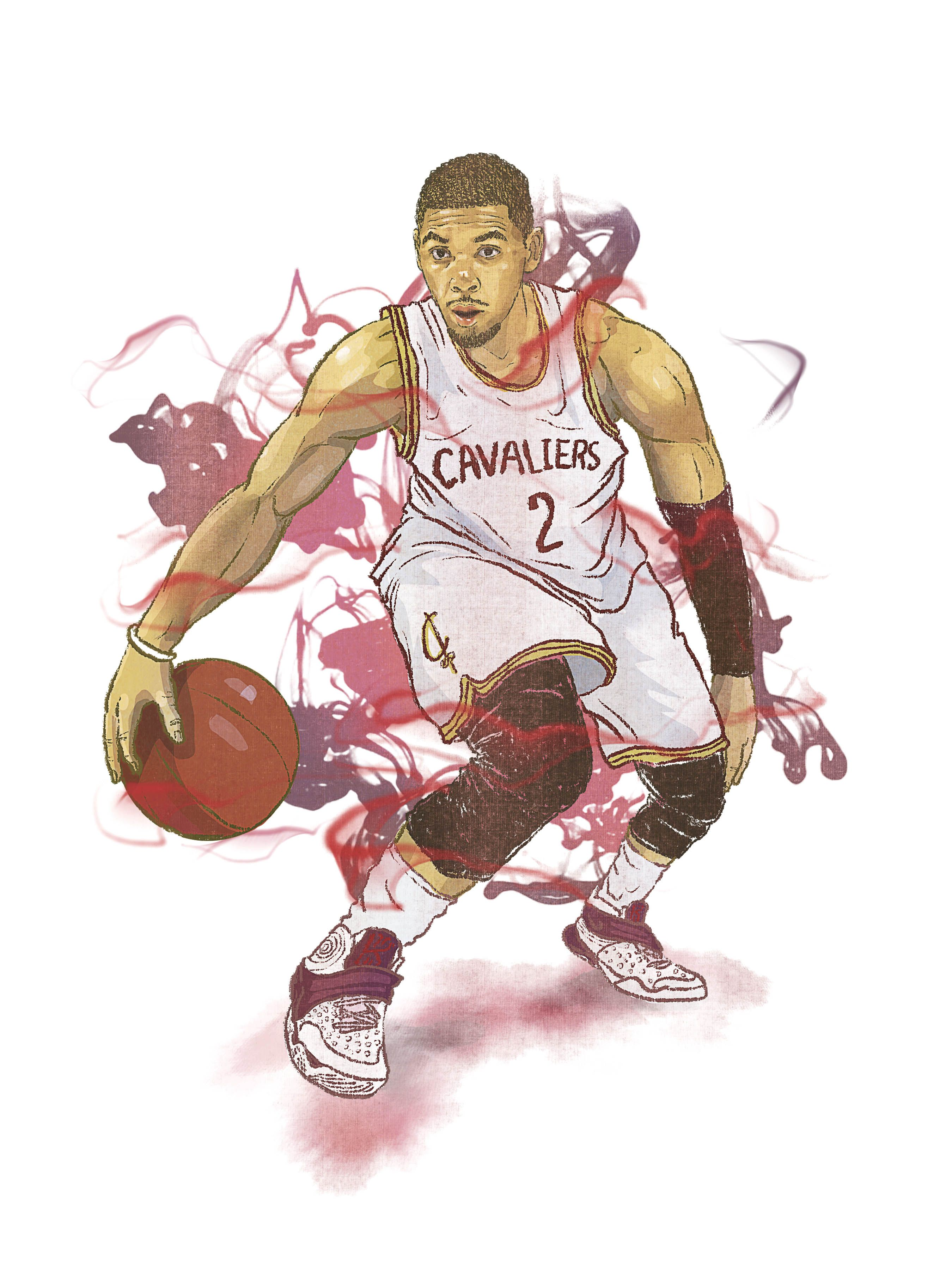 5198bed8563e Kyrie Irving by Yu-Ming Huang illustration©  cavs  kyrieirving  clevelander   cavaliers  cavs  KyrieIrving  2  illustrator  Illustration  art  artist ...