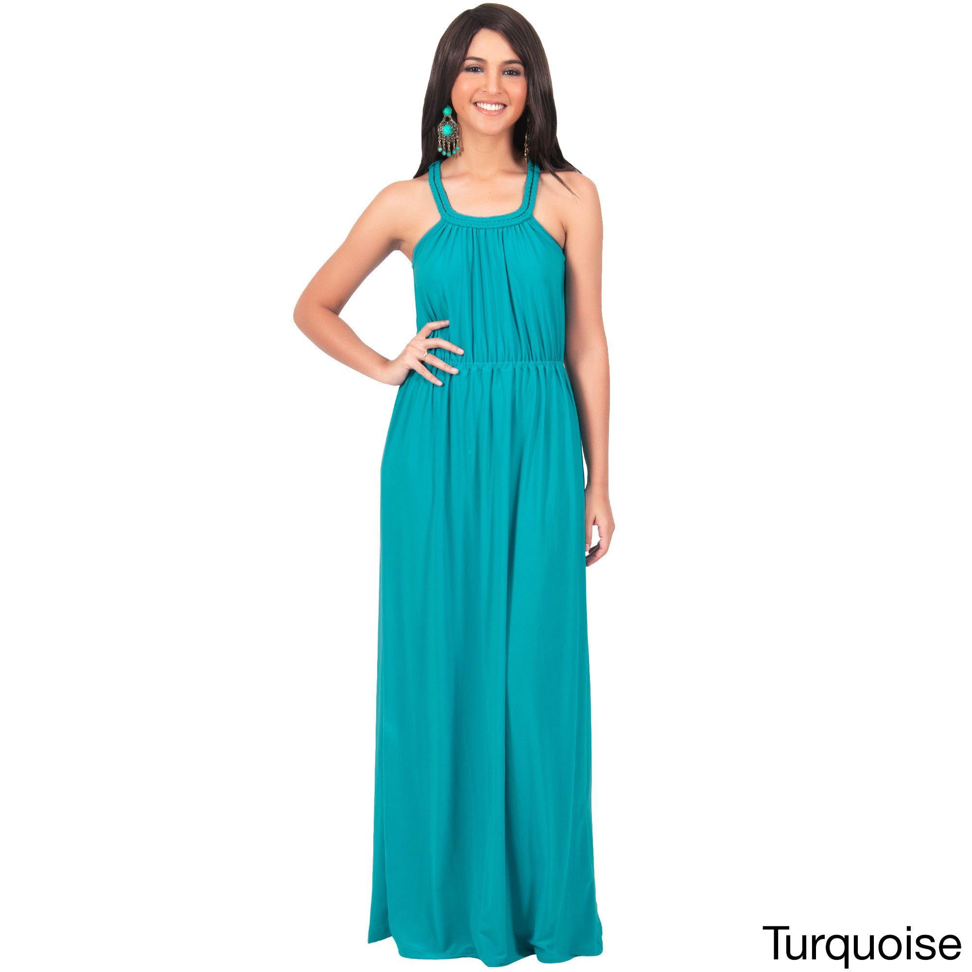 Global KOH KOH Women\'s Sundress Braided Strapless Maxi Dress ...