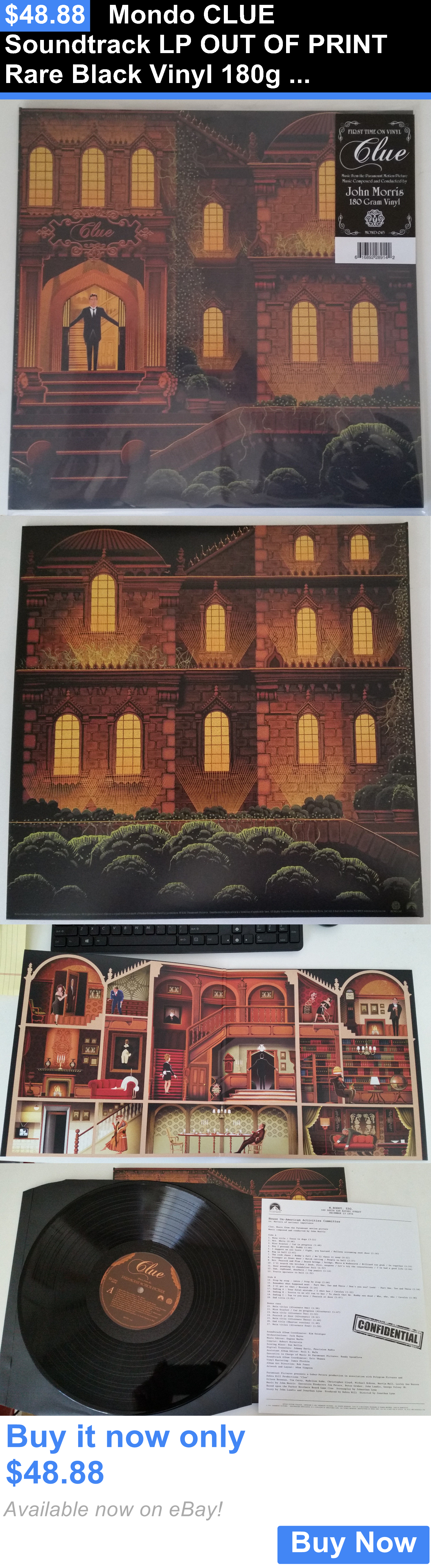 Music Albums: Mondo Clue Soundtrack Lp Out Of Print Rare Black Vinyl 180G Limited Edition New BUY IT NOW ONLY: $48.88
