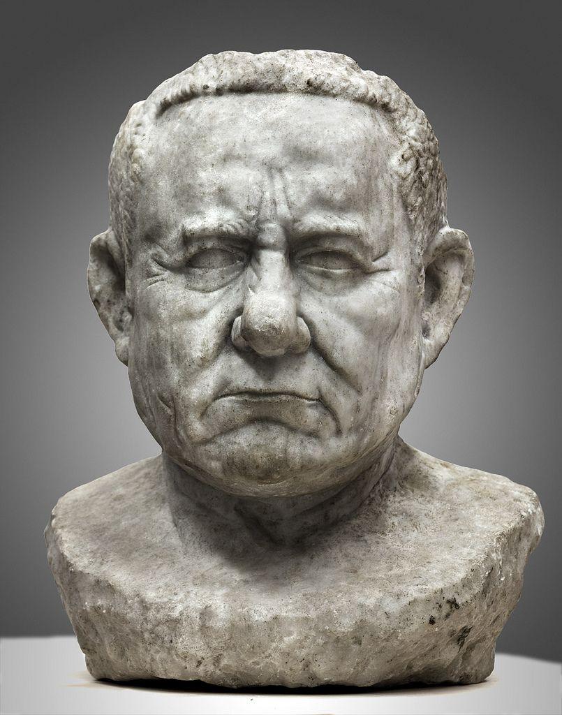 C bce bust of a roman republican portrait