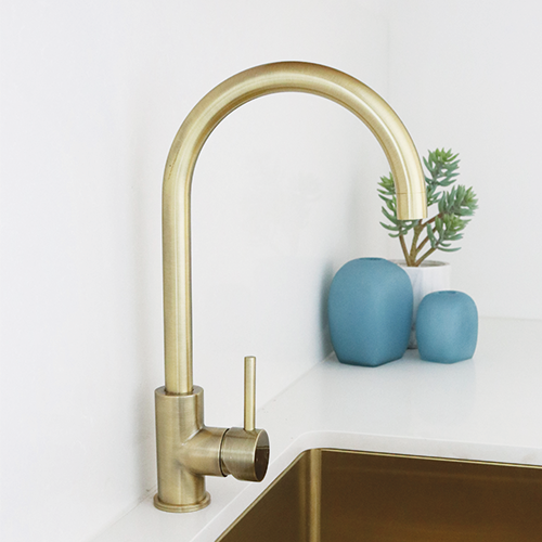 Brass Kitchen Tap Brushed Brass Tapware Australia Buy