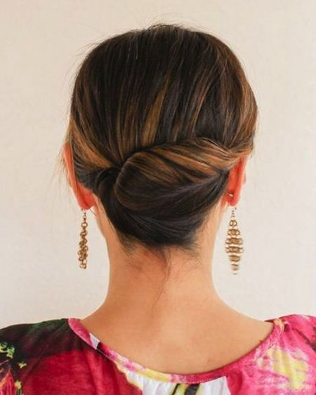 Simply Gorgeous Updos The Tight Twist Easy Updos For Medium - Croissant hairstyle bun
