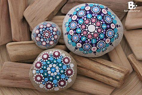 mandala steine anleitung von ideenwerkstatt pinterest mandala steine. Black Bedroom Furniture Sets. Home Design Ideas