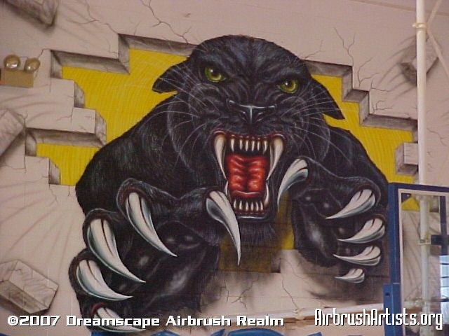 Panther mural google search panther pride park pinterest for Black panther mural