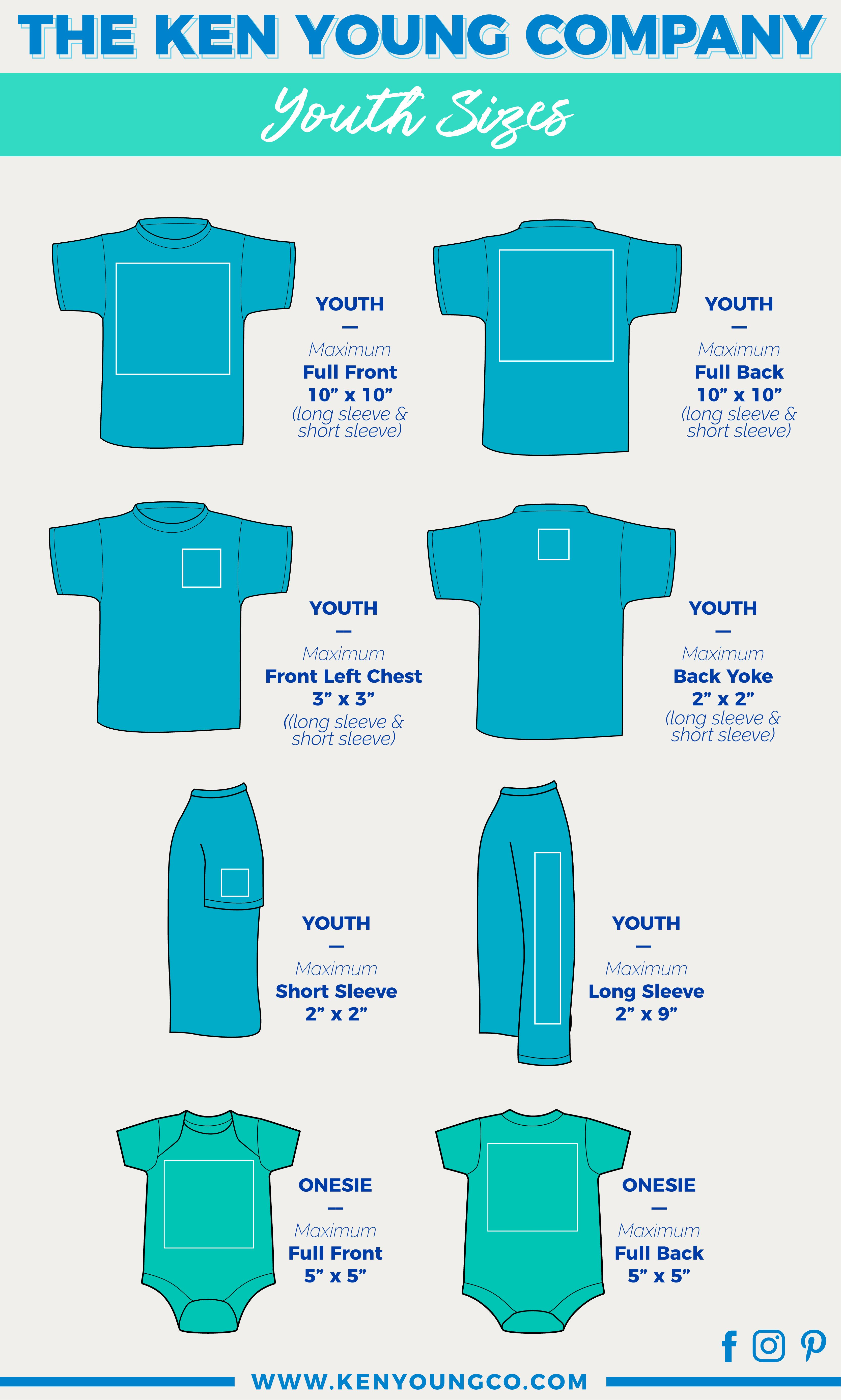 Ken young co placement designs on youth  shirts and onesies long sleeve short front left chest also heat transfer vinyl onesie design ideas crafts to do rh pinterest
