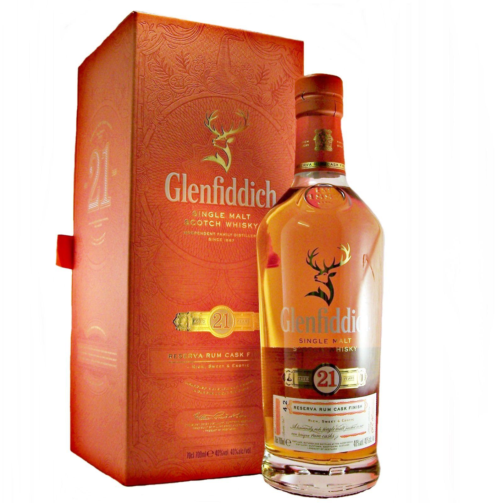 Glenfiddich 21 Year Old Reserva Rum Cask Finish Whisky Malt Whisky Single Malt Whisky