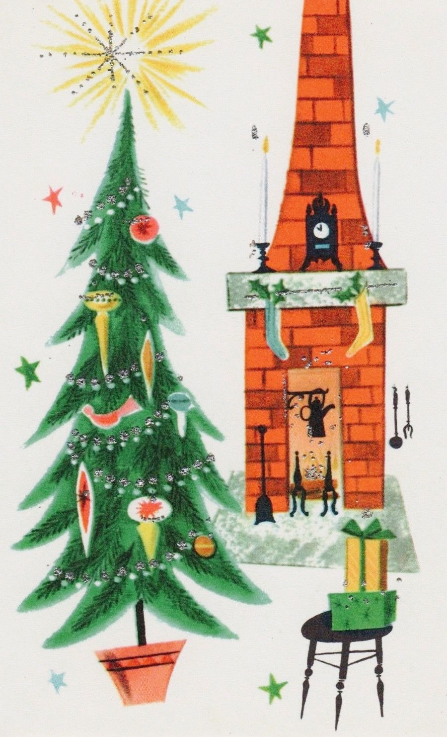 retrochristmas Mid-Century Modern Christmas Card. Vintage Christmas ...