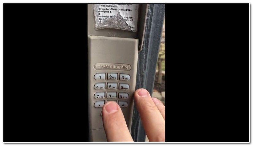 How To Reset Garage Door Keypad Chamberlain Garage Door Opener Keypad Garage Door Keypad Liftmaster Garage Door