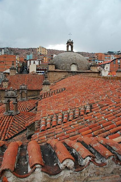 La Paz Rooftops By Peggy Tee Via Flickr Rooftop Colourful Buildings La Paz