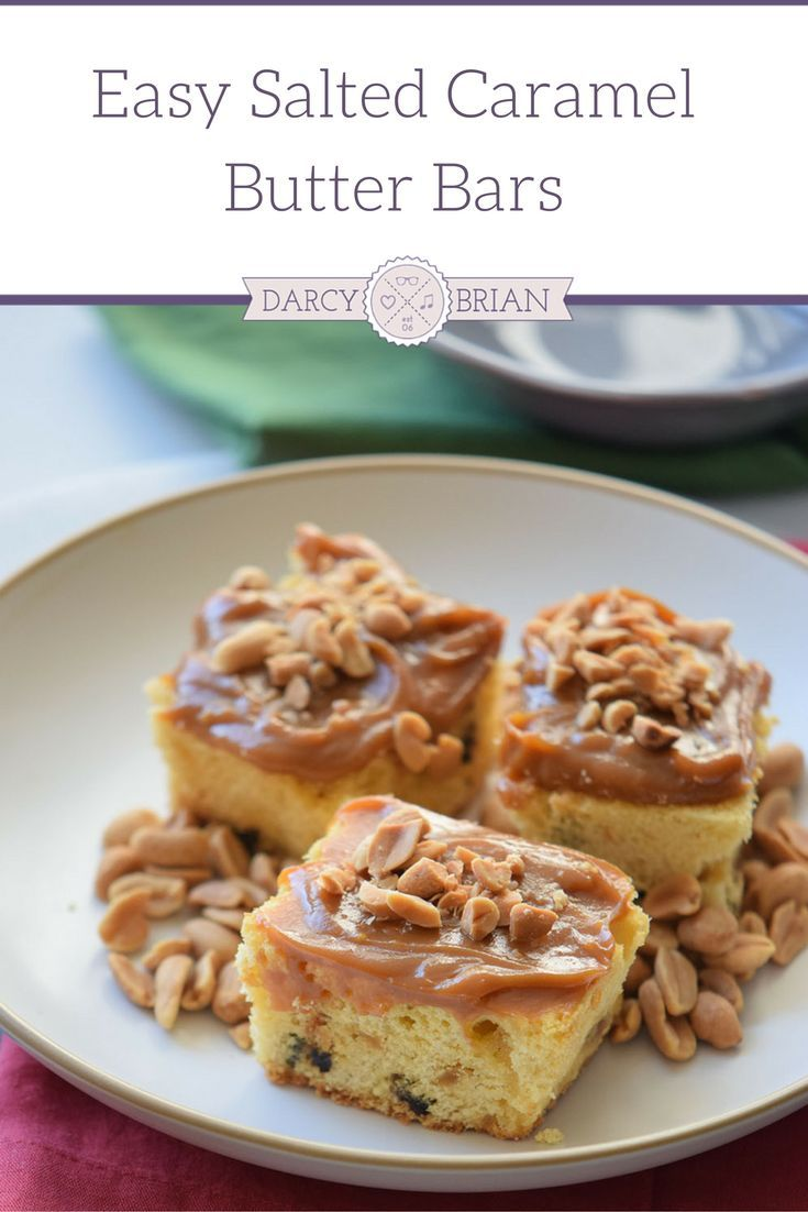 Salted Caramel Butter Bars are one of the best and easiest indulgent treats ever! Enjoy this rich salty and sweet treat any time with this easy recipe!