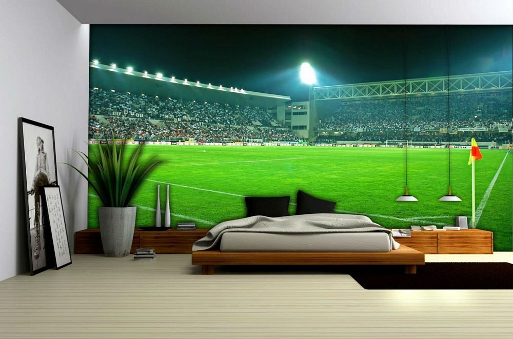 Xl Football Stadium Wallpaper Mural 306ve Jpg 1000 661 Football Wall Murals Football Bedroom Mural Wallpaper